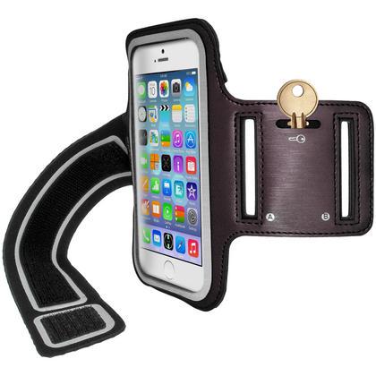 "iGadgitz Reflective Anti-Slip Sports Jogging Gym Armband for Apple iPhone 6 & 6S 4.7"" with Key Slot Thumbnail 3"