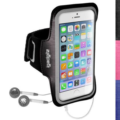 "iGadgitz Reflective Anti-Slip Sports Jogging Gym Armband for Apple iPhone 6 & 6S 4.7"" with Key Slot Thumbnail 1"