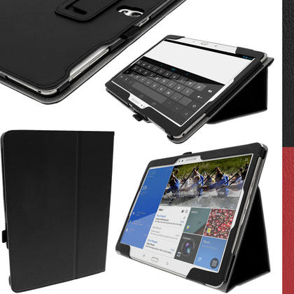 "iGadgitz PU Leather Case for Samsung Galaxy Tab S 10.5"" SM-T800 with Sleep/Wake, Stand + Screen Prot. (various colours) Thumbnail 1"