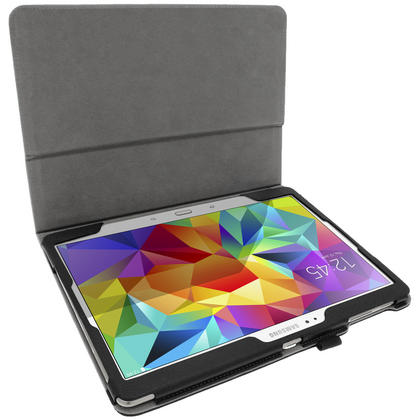 "iGadgitz PU Leather Case for Samsung Galaxy Tab S 10.5"" SM-T800 with Sleep/Wake, Stand + Screen Prot. (various colours) Thumbnail 4"