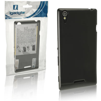 iGadgitz Glossy TPU Gel Case for Sony Xperia T3 D5102 + Screen Protector (various colours) Thumbnail 3