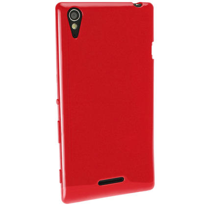iGadgitz Glossy TPU Gel Case for Sony Xperia T3 D5102 + Screen Protector (various colours) Thumbnail 4