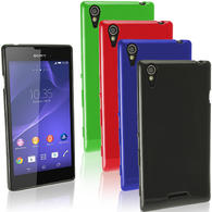 iGadgitz Glossy TPU Gel Case for Sony Xperia T3 D5102 + Screen Protector (various colours)