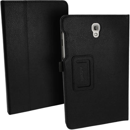 "iGadgitz Black PU Leather Case for Samsung Galaxy Tab S 8.4"" SM-T700 SM-T705 With Sleep Wake, Hand Strap + Screen Prot Thumbnail 2"