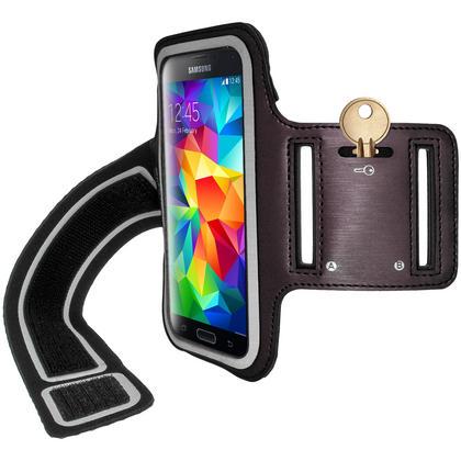 iGadgitz Reflective Anti-Slip Sports Armband for Samsung Galaxy S5 SV MINI SM-G800F with Key Slot (various colours) Thumbnail 3
