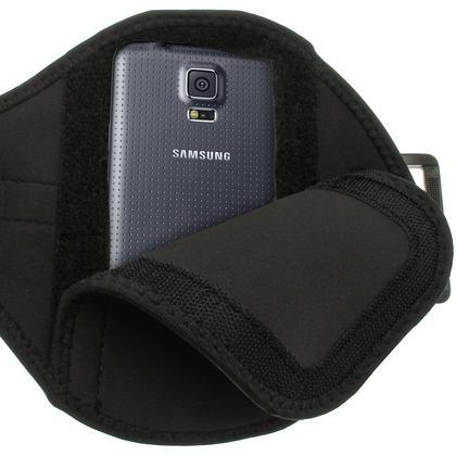 iGadgitz Water Resistant Black Sports Jogging Gym Armband for Samsung Galaxy S5 SV MINI SM-G800F Thumbnail 5