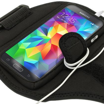 iGadgitz Water Resistant Black Sports Jogging Gym Armband for Samsung Galaxy S5 SV MINI SM-G800F Thumbnail 2