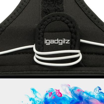iGadgitz Water Resistant Black Sports Jogging Gym Armband for LG G3 D855 Thumbnail 3