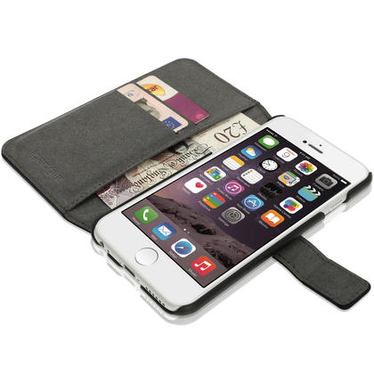 igadgitz premium pu leather wallet case for apple iphone 6 6s 4 7 with card slots viewing. Black Bedroom Furniture Sets. Home Design Ideas