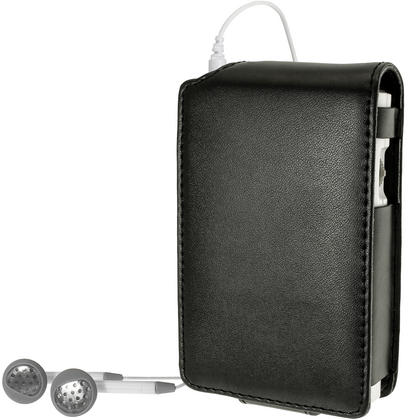 iGadgitz Black PU Leather Case Cover for Roberts Sports Dab 5 Radio With Removable Belt Clip + Screen Protector Thumbnail 2