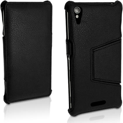 iGadgitz Premium PU Leather Case for Sony Xperia T3 D5102 with Stand + Screen Protector (various colours) Thumbnail 2