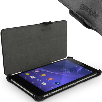 iGadgitz Premium PU Leather Case for Sony Xperia T3 D5102 with Stand + Screen Protector (various colours) Thumbnail 3