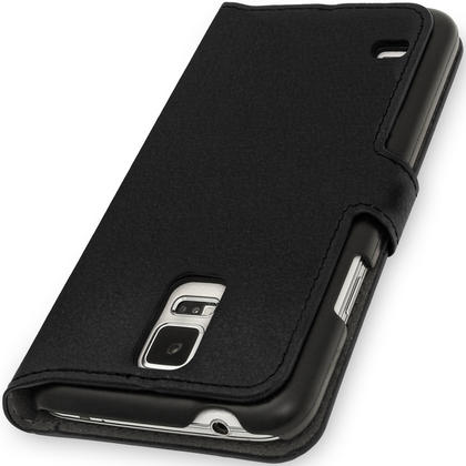 iGadgitz Premium Black PU Leather Case for Samsung Galaxy S5 MINI SM-G800F With Card Slots, Stand + Screen Protector Thumbnail 2