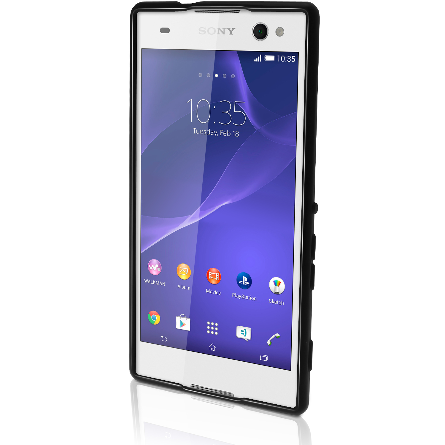 Igadgitz glossy tpu gel skin case cover for sony xperia c3 d2533 igadgitz glossy tpu gel skin case cover for sony xperia c3 d2533 screen protector reheart Images