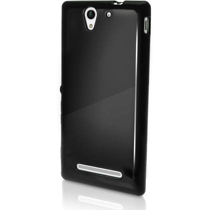 iGadgitz Glossy TPU Gel Skin Case Cover for Sony Xperia C3 D2533 + Screen Protector (various colours) Thumbnail 2