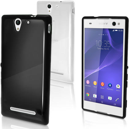 iGadgitz Glossy TPU Gel Skin Case Cover for Sony Xperia C3 D2533 + Screen Protector (various colours) Thumbnail 1