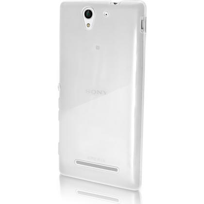 iGadgitz Glossy TPU Gel Skin Case Cover for Sony Xperia C3 D2533 + Screen Protector (various colours) Thumbnail 4