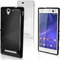 iGadgitz Glossy TPU Gel Skin Case Cover for Sony Xperia C3 D2533 + Screen Protector (various colours)