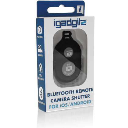 iGadgitz Selfie Bluetooth Remote Shutter Camera Activation for Apple iOS and Android Phone and Tablets (various colours) Thumbnail 4