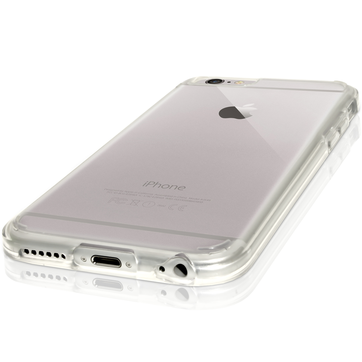 igadgitz pc tpu hybrid case for apple iphone 6 6s 4 7 with clear gel edge screen protector. Black Bedroom Furniture Sets. Home Design Ideas