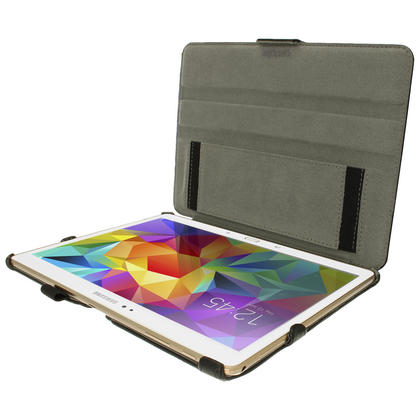 """iGadgitz Black PU Leather Case for Samsung Galaxy Tab S 10.5"""" SM-T800 with Stand, Sleep/Wake, Hand Strap + Screen Prot Thumbnail 3"""