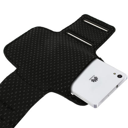 iGadgitz Reflective Anti-Slip Sports Jogging Gym Armband for Huawei Ascend P7 with Key Slot (various colours) Thumbnail 3