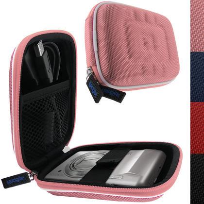 iGadgitz Pink EVA Travel Hard Case Cover for Digital Cameras / Video Pocket Camcorders Thumbnail 1