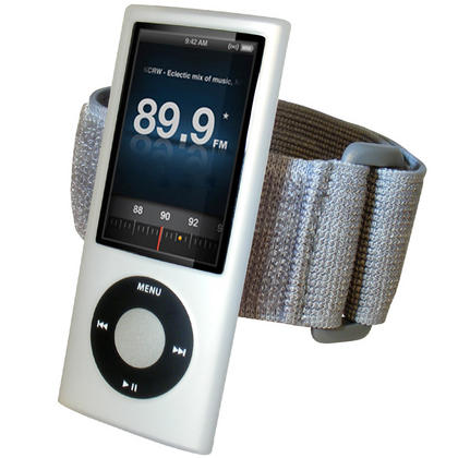iGadgitz CLEAR Silicone Skin Case & Armband for Apple iPod Nano 5th Gen (with Video Camera) + Screen Protector & Lanyard Thumbnail 1