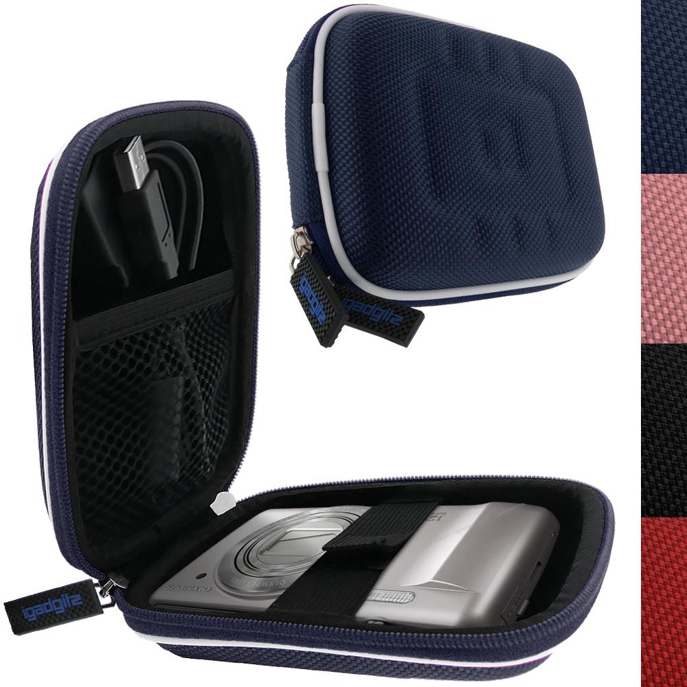 iGadgitz Blue EVA Travel Hard Case Cover for Digital Cameras / Video Pocket Camcorders