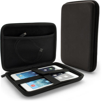 iGadgitz Black EVA Travel Hard Case for Apple iPad Mini 1st Gen & 2nd Gen with Retina Display (launched Oct 13) Thumbnail 1