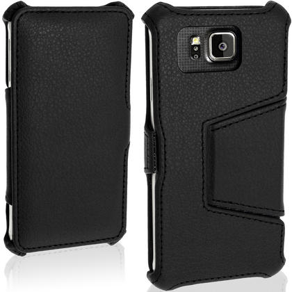 iGadgitz Premium Folio PU Leather Case for Samsung Galaxy Alpha SM-G850 with Viewing Stand + Screen Protector Thumbnail 2