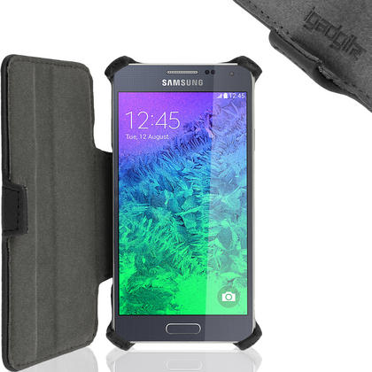iGadgitz Premium Folio PU Leather Case for Samsung Galaxy Alpha SM-G850 with Viewing Stand + Screen Protector Thumbnail 3