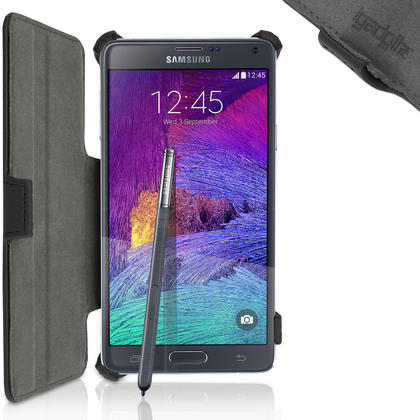iGadgitz Premium PU Leather Case for Samsung Galaxy Note 4 SM-N910 with Stand + Screen Protector (various colours) Thumbnail 4
