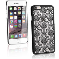 Black With Damask Pattern