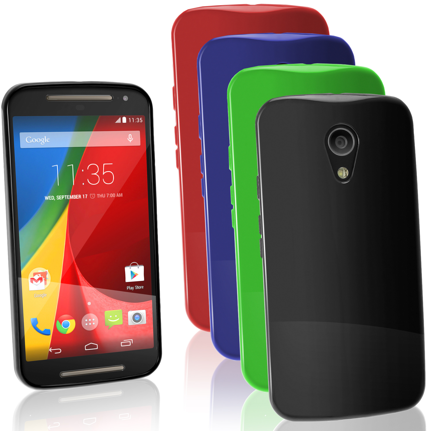 iGadgitz Glossy TPU Gel Case for Motorola Moto G 2nd Generation 2014 XT1068 (G2) + Screen Prot. (various colours)