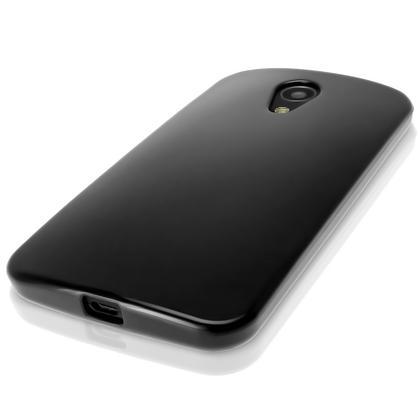 iGadgitz Glossy TPU Gel Case for Motorola Moto G 2nd Generation 2014 XT1068 (G2) + Screen Prot. (various colours) Thumbnail 2