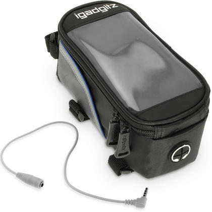 iGadgitz Reflective Water Resistant Front Top Tube Pannier Bike Frame Storage Bag with Phone, iPod, MP3, GPS Holder Thumbnail 3