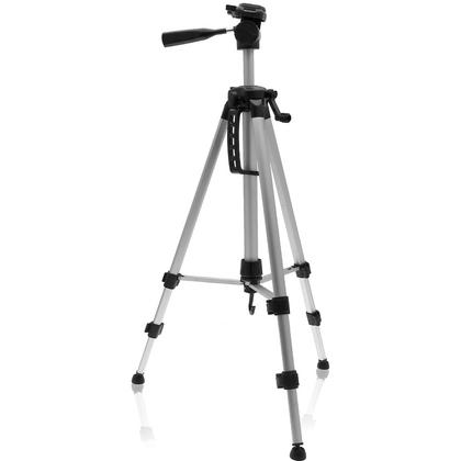 "iGadgitz 140cm (55"") 3 Section Extendable Lightweight Aluminium Portable Tripod for Camera and Camcorder with Carry Case"