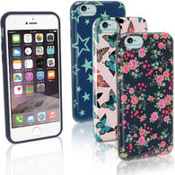 "iGadgitz ""Designer Collection"" Glossy TPU Gel Skin Case Cover for Apple iPhone 6 & 6S 4.7"" + Screen Protector"