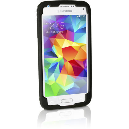 iGadgitz Black Tyre Tread Silicone Rubber Gel Skin Case Cover for Samsung Galaxy S5 Mini SM-G800F + Screen Protector Thumbnail 6