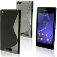 iGadgitz S Line Wave Glossy TPU Gel Skin Case Cover for Sony Xperia E3 D2202 + Screen Protector