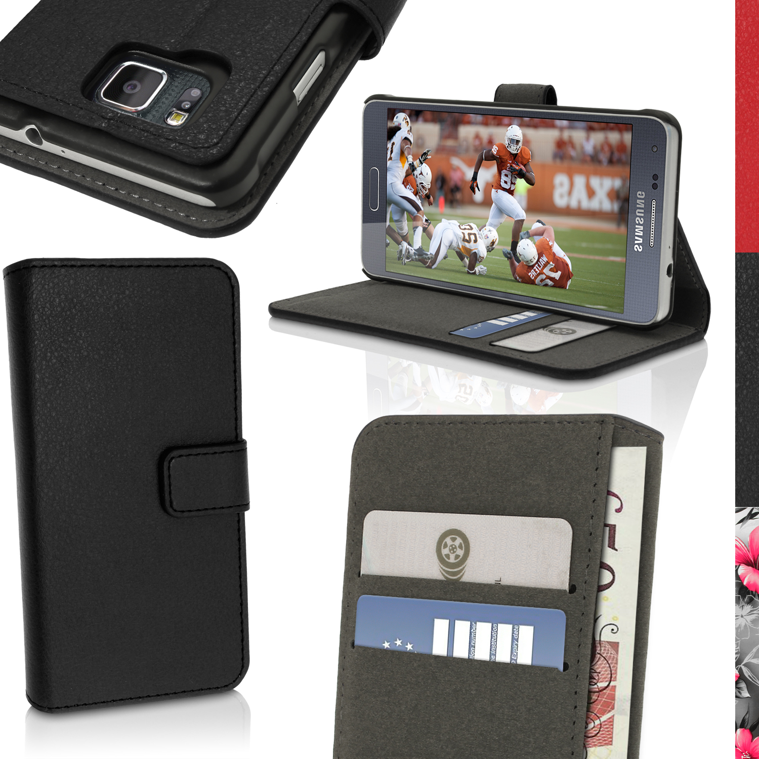 BOOK STYLE PU LEATHER CASES FOR SAMSUNG GALAXY ALPHA
