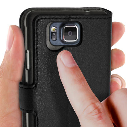 BOOK STYLE PU LEATHER CASES FOR SAMSUNG GALAXY ALPHA Thumbnail 2