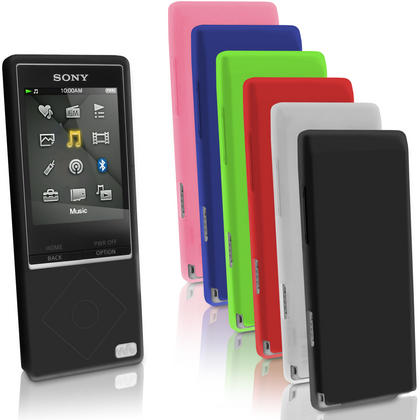 iGadgitz Silicone Skin Case Cover for Sony Walkman NWZ-A15 NWZ-A17 NW-A25 NW-A27 + Screen Protector Thumbnail 1