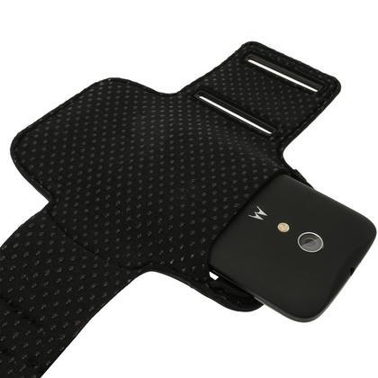 iGadgitz Reflective Anti-Slip Sports Jogging Gym Armband for Motorola Moto G 2nd (2014) & 3rd Gen (2015) with Key Slot Thumbnail 3
