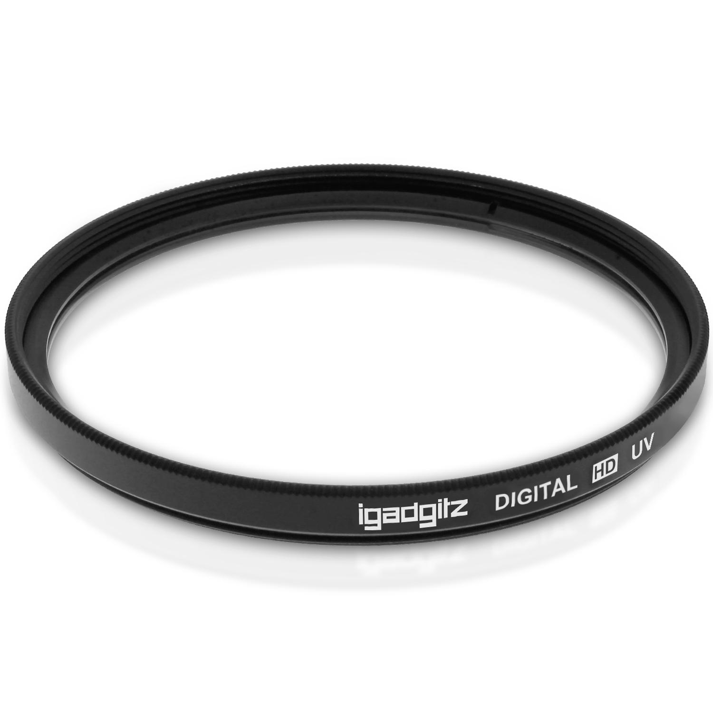 iGadgitz Xtra 62mm Glass Multi-Coated UV Lens Filter Protection for SLR & DSLR Cameras