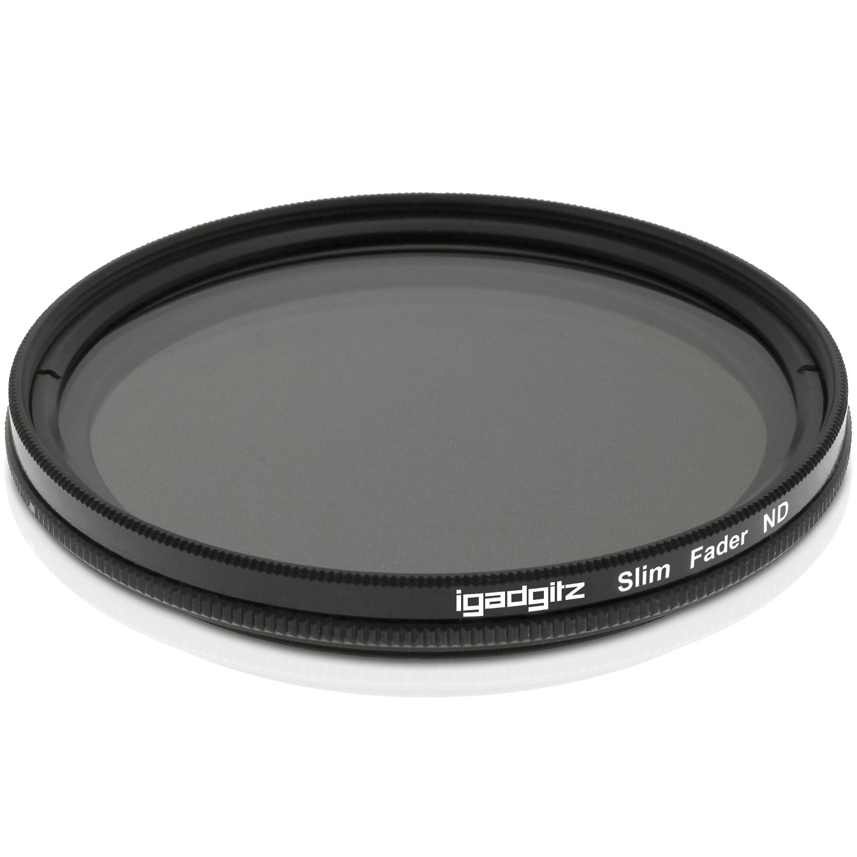 iGadgitz Xtra 77mm Glass Multi-Coated Adjustable Neutral Density ND Lens Fader Filter ND2 to ND400 for SLR & DSLR Cameras