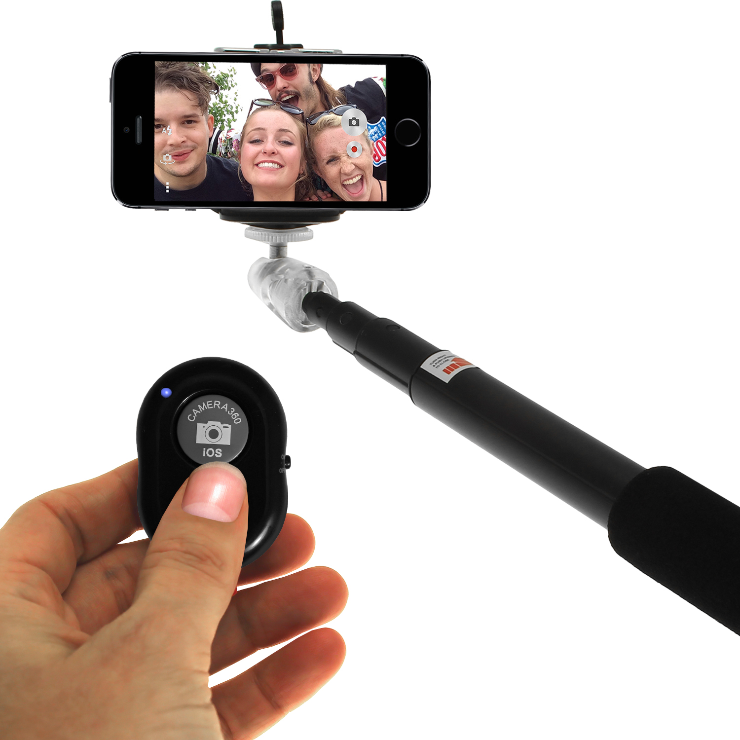 igadgitz combo pack of extendable selfie stick bluetooth remote shutter control suitable for. Black Bedroom Furniture Sets. Home Design Ideas