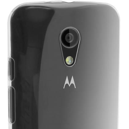 iGadgitz Clear PC Hard Back Case Cover for Motorola Moto G 2nd Generation 2014 XT1068 (G2) Protective Shell + Screen Protector Thumbnail 3
