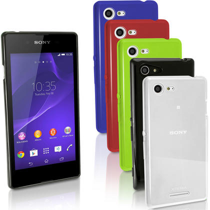 iGadgitz Glossy TPU Gel Skin Case Cover for Sony Xperia E3 D2202 + Screen Protector Thumbnail 1